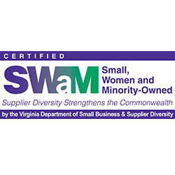 small, women and minority owned business logo